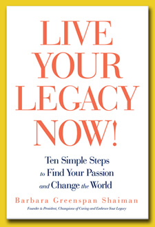 Live Your Legacy Now book Barbara Shaiman